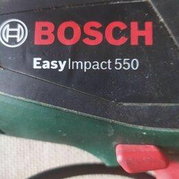 Дрели и строительные миксеры - Дрель BOSCH  Easylmpact550, 0