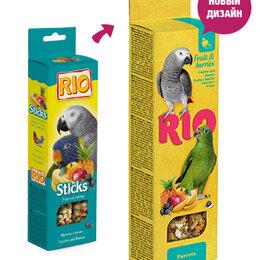 Корма - РИО Палочки для крупных попугаев с фруктами и ягодами 2*75 г , 0