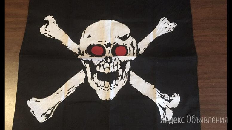 Пиратская бандана череп и кости по цене 500₽ - Карнавальные и театральные костюмы, фото 0