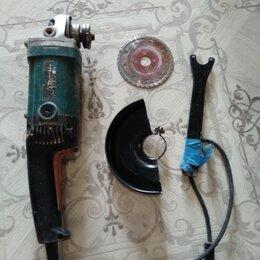 Электро- и бензопилы цепные -  Болгарка макита с дисками и дрель rebir малооборотистый, 0
