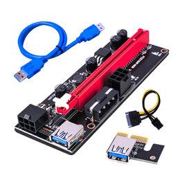 Компьютерные кабели, разъемы, переходники - Райзер pci-e 009s новые, 0