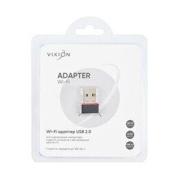 Оборудование Wi-Fi и Bluetooth - WI-FI приёмник USB 2.0 300mpbs (VIXION) , 0