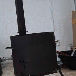 Печи для казанов - Печь с дымоходом, прочная, под казан, 0