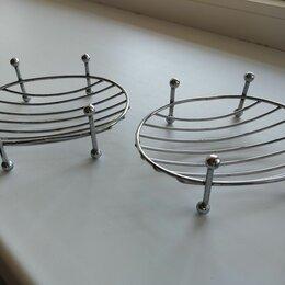 Мыльницы, стаканы и дозаторы - Подставка хром мыло Мыльница, 0