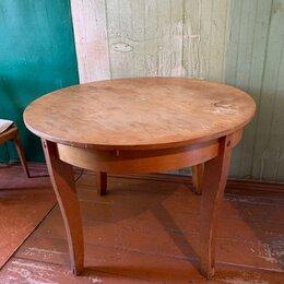 Столы и столики - Стол круглый раздвижной советских времен, 0
