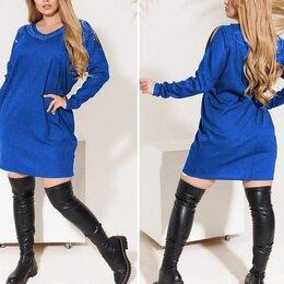 Платья - Оригинальное трикотажное платье р-ры 50-60, 0