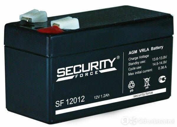 Аккумулятор Security Force SF 12012 12v 1.2Ah для охранно-пожарных систем по цене 496₽ - Готовые строения, фото 0