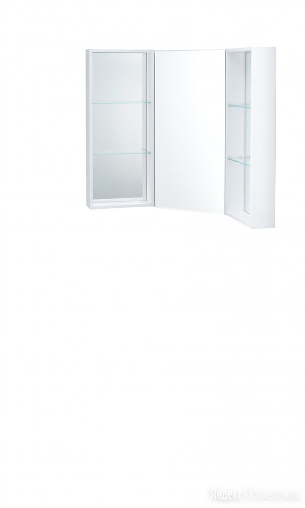 Aquaton Боковой модуль зеркальный шкаф Кантара дуб полярный 1A205802ANW70 по цене 5542₽ - Зеркала, фото 0
