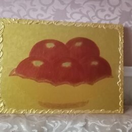 """Картины, постеры, гобелены, панно - Картина"""" Красные яблоки в золоте""""(двухсторонняя), 0"""