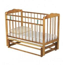 Кроватки - Детская кроватка Russia Женечка-5 поперечный маятник светлая, 0