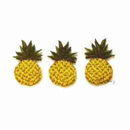 Рукоделие, поделки и сопутствующие товары - Нашивка на одежду вышитый ананас аппликация для декора патч 2х3, 0