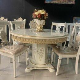 Столы и столики - Стол «Версаче» круг (раздвижной), 0