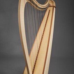 Щипковые инструменты - HLB3401 Мастерская Прохора Лапина Tineola Арфа леверсная 34 струны. Доставка, 0