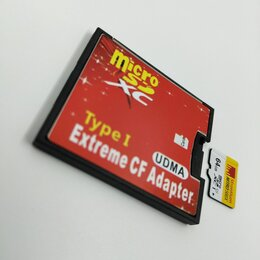 Карты памяти - Переходник compact flash microsd, 0