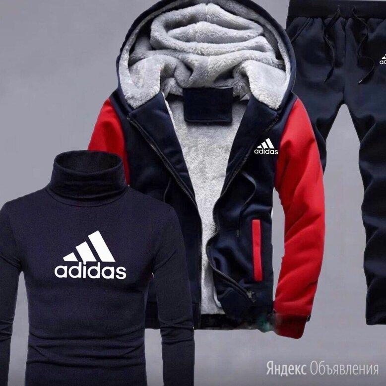 Тёплый мужской спортивный костюм Adidas р-ры 44-56 по цене 3490₽ - Спортивные костюмы, фото 0