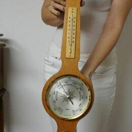 Метеостанции, термометры, барометры - Барометр термометр настенный гдр, 0