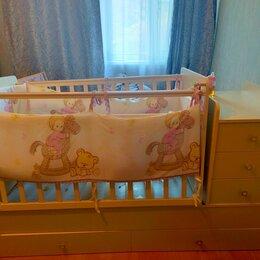 Кроватки - Детская кроватка трансформер с матрасом, 0