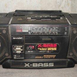 Музыкальные центры,  магнитофоны, магнитолы - Двухкассетный магнитофон Sharp WQ T352HT (BK), 0