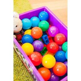 Прочие аксессуары - Шарики для сухого бассейна с рисунком, диаметр шара 7,5 см, набор 8 штук, цве..., 0