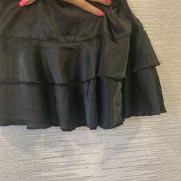 Юбки - Ярусные юбки черного цвета, 0