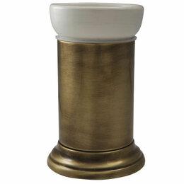 Мыльницы, стаканы и дозаторы - Migliore Mirella Стакан настольный, керамика, бронза 27671+28142, 0