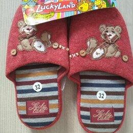 Домашняя обувь - Тапочки детские  новые р.32, 0