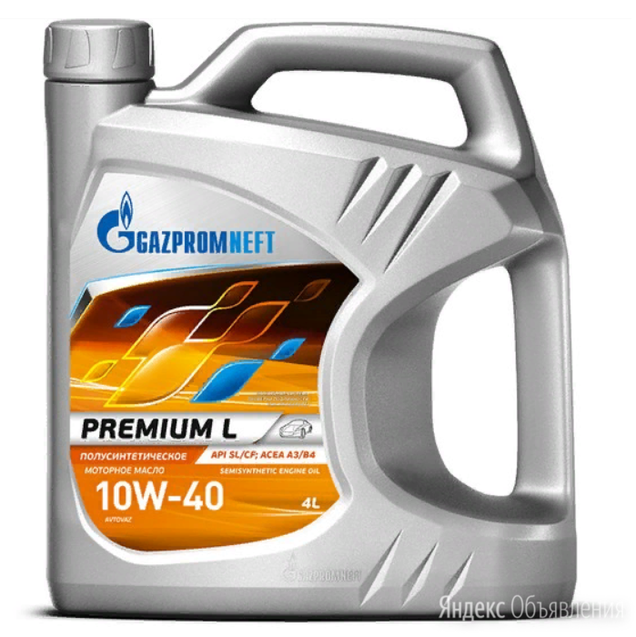 Газпромнефть Премиум 10w-40 п/синт 4 л по цене 863₽ - Масла, технические жидкости и химия, фото 0