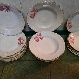 Тарелки - Фарфоровые тарелки: для первого, для второго и десертные, 0