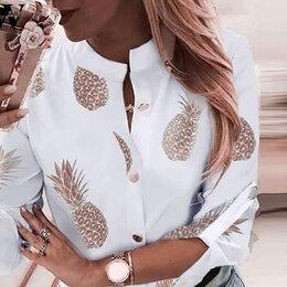 Блузки и кофточки - Рубашка с ананасами женская!, 0