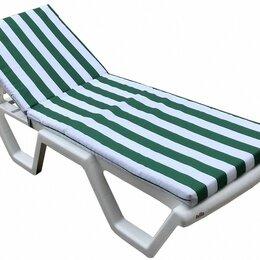 Лежаки и шезлонги - Матрас для шезлонга Зеленые/белые полоски, 0