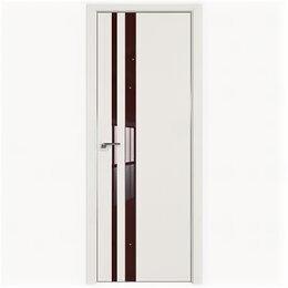 Межкомнатные двери - Межкомнатные двери Profil Doors 16E ДаркВайт Стекло Lacobel Коричневый лак Кр..., 0