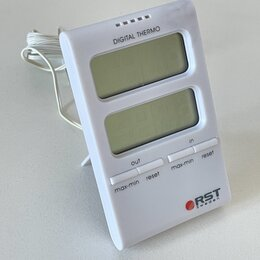 Метеостанции, термометры, барометры - Цифровой термометр с выносным датчиком RST02100, 0