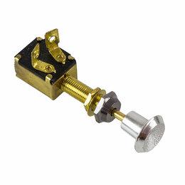 Электроустановочные изделия - Переключатель штоковый двухпозиционный OFF-ON, 12 В/15 А, 3P, 0