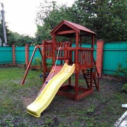 Игровые и спортивные комплексы и горки - Детская площадка Савушка Мастер 2 с качелями Гнездо 1 метр, 0