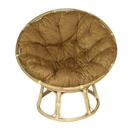 Плетеная мебель - Papasan кресло, ротанг №4+ткань mulan 152, 0