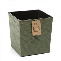 Комнатные растения - Кашпо пластиковое ЭКО Юкка зеленый, 0