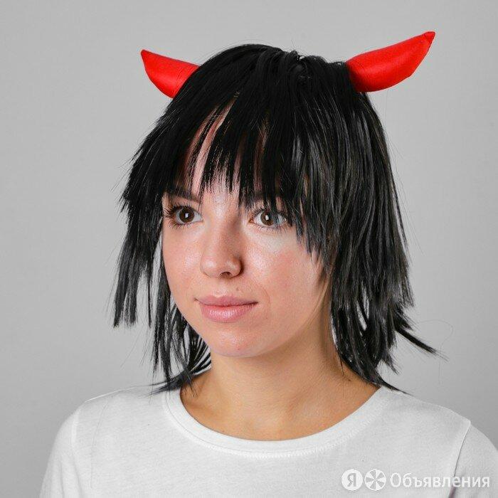 Карнавальный парик 'Жгучая чертовка', 110 г по цене 524₽ - Новогодний декор и аксессуары, фото 0