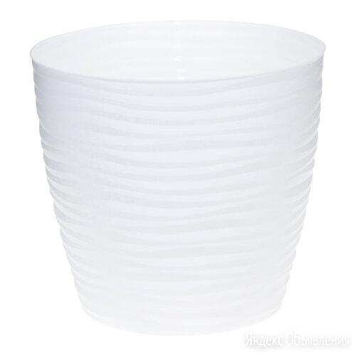 Кашпо ДЮНА D180мм 3л с поддоном Белый М3069 по цене 182₽ - Комнатные растения, фото 0