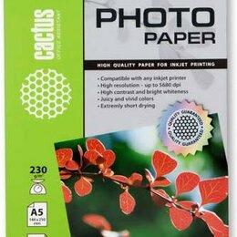 Бумага и пленка - Фотобумага Cactus CS-GA523050, 0