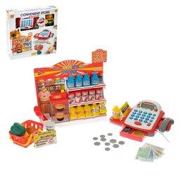 Торговля - Игровой набор «Супермаркет»: касса с витриной и корзинкой, 0