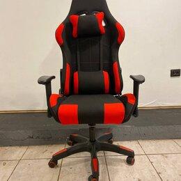 Компьютерные кресла - Игровое компьютерное кресло с качанием текстиль, 0