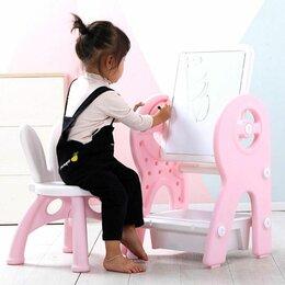 Столы и столики - детский столик с доской для рисования, 0