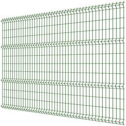 Заборы, ворота и элементы - Панель MEDIUM 2,43х2,50м RAL6005 Зеленый Мох сварная 3Д сетка гиттер, 0
