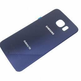 Дисплеи и тачскрины - Задняя крышка для Samsung Galaxy S6 (G920) cиняя ориигинал, 0