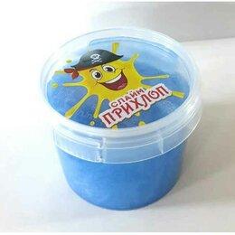Мыльные пузыри - Слайм Прихлоп Перламутровый голубой 100 грамм, 0