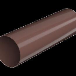 Кровля и водосток - ТН ПВХ труба, коричневый, глянец (3м), 0