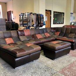 Диваны и кушетки - Кожаный модульный диван ланкастер в стиле печворк , 0