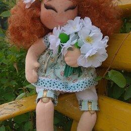Рукоделие, поделки и сопутствующие товары - Текстильные куклы с кудряшками, 0