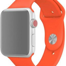 Ремешки для умных часов - Ремешок для Apple Watch 42/44 мм Silicone Оранжевый, 0