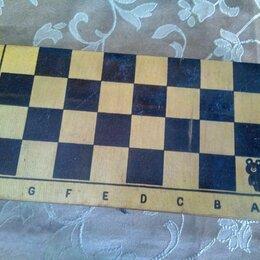 Настольные игры - Шахматы деревянные доски 30х30 ссср.С олимпийским мишкой, 0